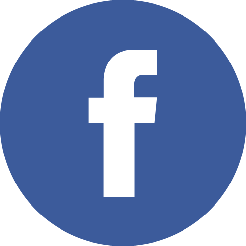 Facebook Logo in Round blue with shadow