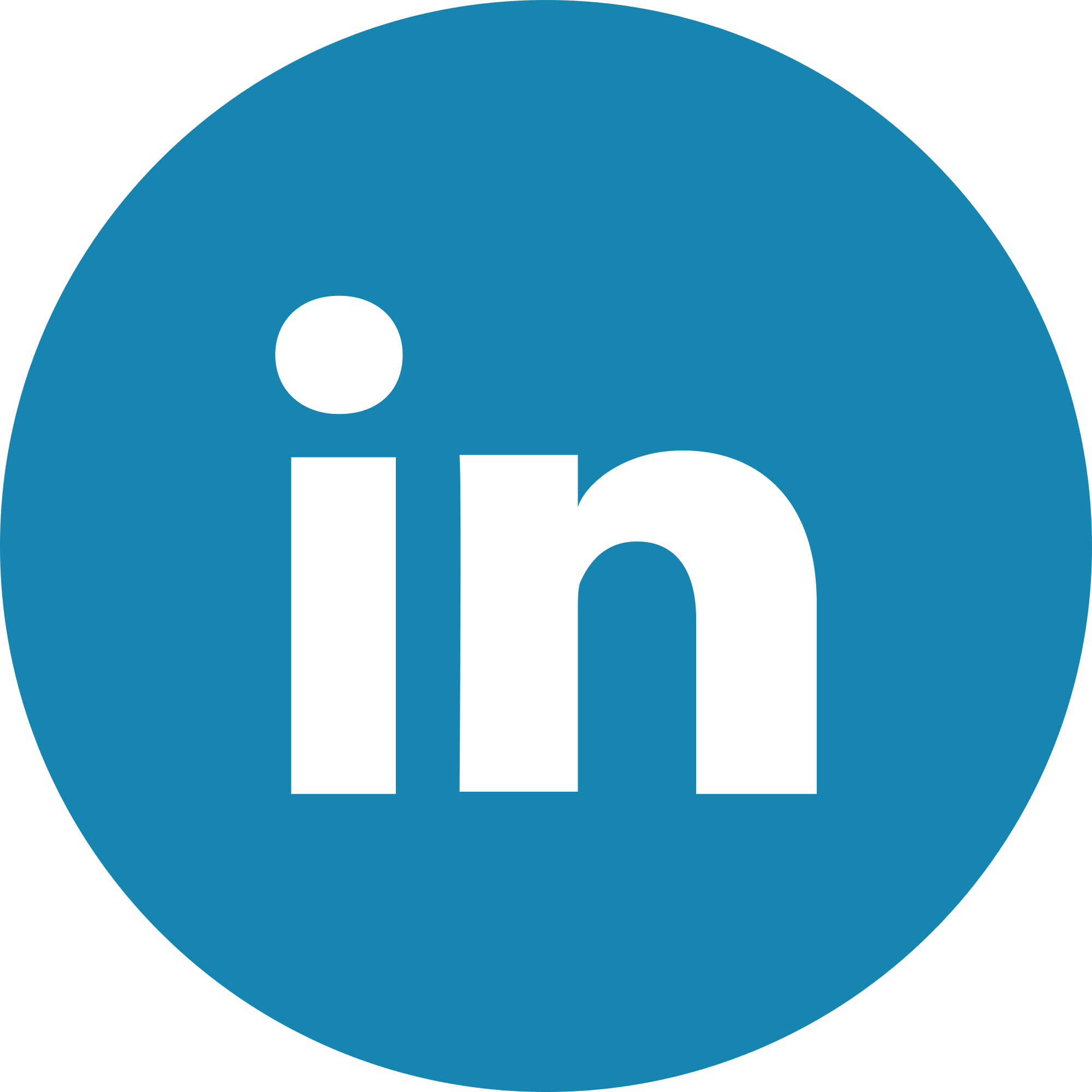 Linkedin Logo in Round blue with shadow