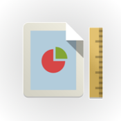 Ruler and Piechart image, an illustration of Business Analyses (round circle with Ruler and Chart)