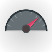 Speedometer image, an illustration of rapid development (round circle with Speedo)